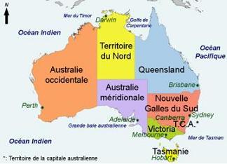 carte australie geographie